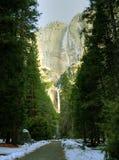 Yosemite Fall in winter Stock Photography