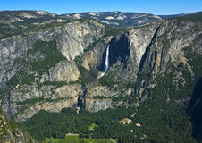 Yosemite Falls. Upper and Lower Yosemite Falls (total height 2,425 ft.) viewed from Glacier Point, Yosemite National Park, California Royalty Free Stock Photo