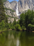 Yosemite Falls. And Merced River Stock Photos