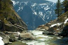 River at top of Yosemite Falls Stock Image