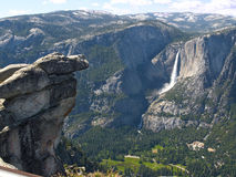 Yosemite Falls. Upper and lower, seen from Glacier Point Royalty Free Stock Image