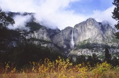 Yosemite Falls in autumn Royalty Free Stock Image