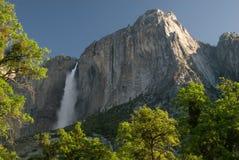Yosemite Falls dans la lumière de début de la matinée Photographie stock libre de droits