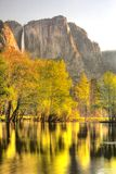Yosemite Falls dans le printemps Photos libres de droits
