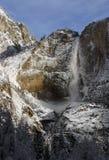 Yosemite Falls in inverno Fotografie Stock Libere da Diritti