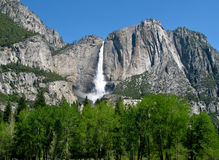 Yosemite Falls in landscape format royalty free stock photos