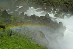 Yosemite Falls with a rainbow Royalty Free Stock Photos