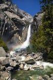Yosemite falls rainbow Stock Image