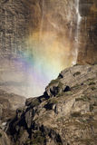 Yosemite Falls Rainbow Stock Photography