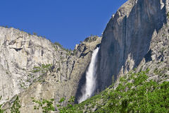 Yosemite Falls In summer On A Clear Day Royalty Free Stock Photo