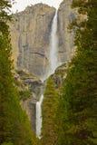 Yosemite Falls superior y más inferior Imagenes de archivo