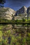 Yosemite Falls superiore e più basso variopinto Fotografia Stock Libera da Diritti