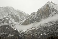 Yosemite Falls in Winter Royalty Free Stock Photography