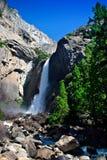 Yosemite Falls, Yosemite National Park. Yosemite Falls is the highest measured waterfall in North America. Located in Yosemite National Park in the Sierra Nevada stock photo