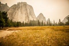 Yosemite on fire Stock Photo