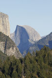 Yosemite Half Dome. The Half Dome rock formation at the Yosemite National Park Royalty Free Stock Photography