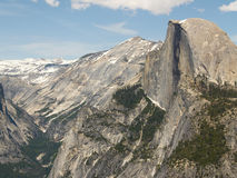 Yosemite: Half Dome. Yosemite Valley and Half Dome, seen from Glacier Point Royalty Free Stock Images