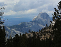 Yosemite Half-Dome Storm Clouds. Yosemite Half-Dome view from high country on stormy day Stock Images