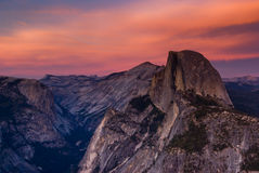 Yosemite half dome sunset Royalty Free Stock Photo