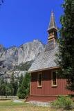 Yosemite kaplicy i wierzchu Yosemite spadek Zdjęcie Royalty Free