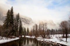 Yosemite Landscape. Dramatic winter landscape in Yosemite National Park, California Royalty Free Stock Photo