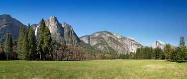 Yosemite Meadow panorama Stock Photo