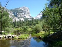 Yosemite: Mirror Lake. Mirror Lake at Yosemite National Park, California, U. S. A stock photos