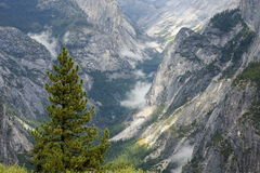 Yosemite mountain slopes and Ravines Stock Images