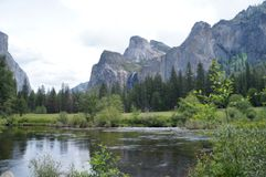 Yosemite mountains and lake royalty free stock images