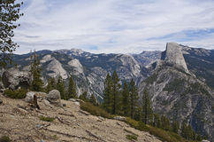 Yosemite National Park. View of half dome from glazier point in yosemite national park Royalty Free Stock Photos