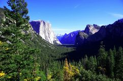 Yosemite National Park. A beautiful and stunning gorge you can see from where I was standing stock photo