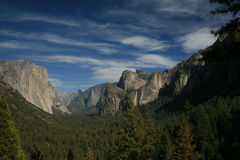 Yosemite National Park. A view over Yosemite National Park California stock images
