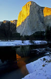 Yosemite National Park. El Capitan as the sunsets Royalty Free Stock Image
