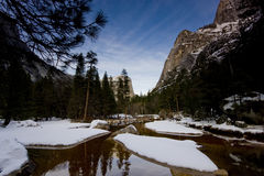 Yosemite National Park. In the winter with snowfall Stock Images