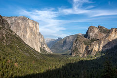 Yosemite National Park, California. Tunnel view from Yosemite, California stock images