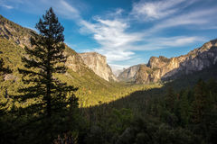 Yosemite National Park, California. Tunnel view at daylight time royalty free stock images