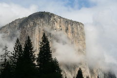 Yosemite National Park El Capitan. El Capitan in the sunshine at Yosemite National Park Royalty Free Stock Images