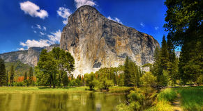 Yosemite National Park, El Capitan. Yosemite National Park, E Capitan - one of the most iconic rock formations in the world. California, U.S Royalty Free Stock Images