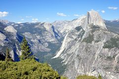 Yosemite National Park - Half Dome view from Glacier Point Stock Photography