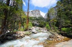 Yosemite National Park. Hike to Vernal Waterfall in Yosemite National Park Stock Images