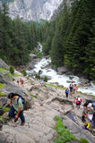 Yosemite National Park. Hike to Vernal Waterfall in Yosemite National Park Royalty Free Stock Photography