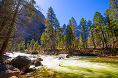 Yosemite National Park Merced River in California Stock Image