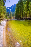 Yosemite National Park Merced River in California Stock Images
