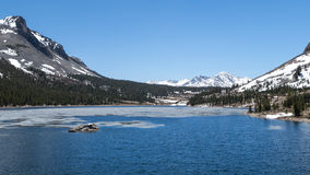 Yosemite National Park - Mountain Lake. Landscape of a frozen lake in Yosemite National Park Royalty Free Stock Images