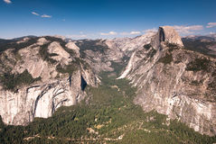 Yosemite national park observation point Royalty Free Stock Image