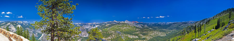 Yosemite National Park Panorama Taken from Observing Point. Cali Stock Photo