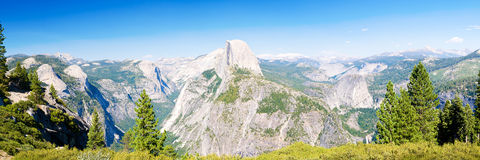 Yosemite National Park panoramic view Stock Photo