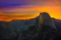 Free Yosemite National Park Sunrise Glacier Point Royalty Free Stock Photos - 76697658