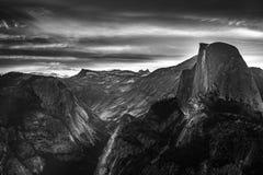 Yosemite National Park Sunrise Glacier Point Black and White Stock Images
