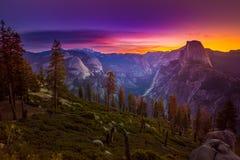 Yosemite National Park Sunrise Glacier Point Royalty Free Stock Images